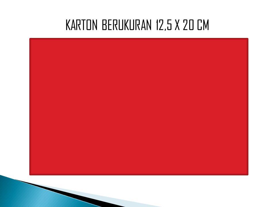 KARTON BERUKURAN 12,5 X 20 CM