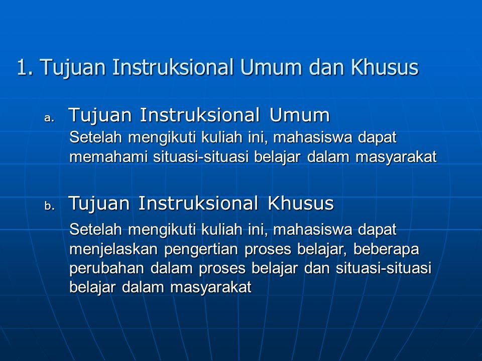 1. Tujuan Instruksional Umum dan Khusus