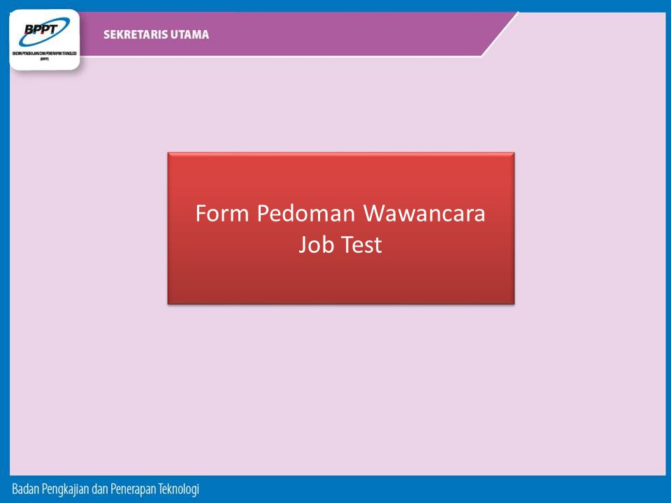 Form Pedoman Wawancara Job Test