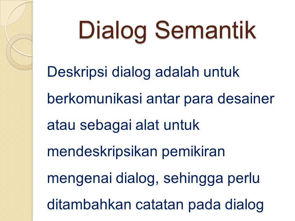 Dialog Semantik