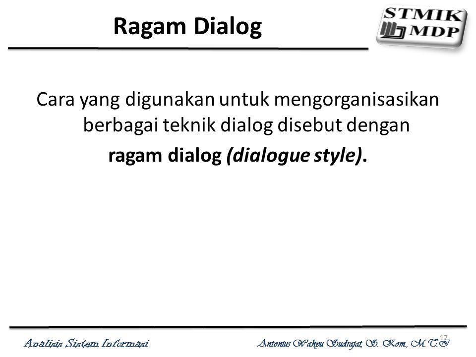 ragam dialog (dialogue style).
