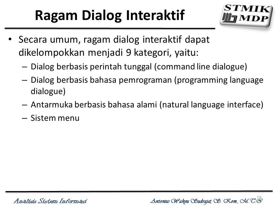 Ragam Dialog Interaktif