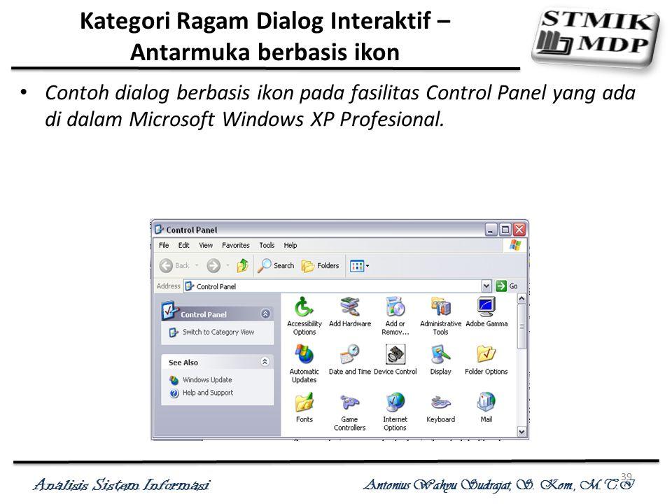 Kategori Ragam Dialog Interaktif – Antarmuka berbasis ikon