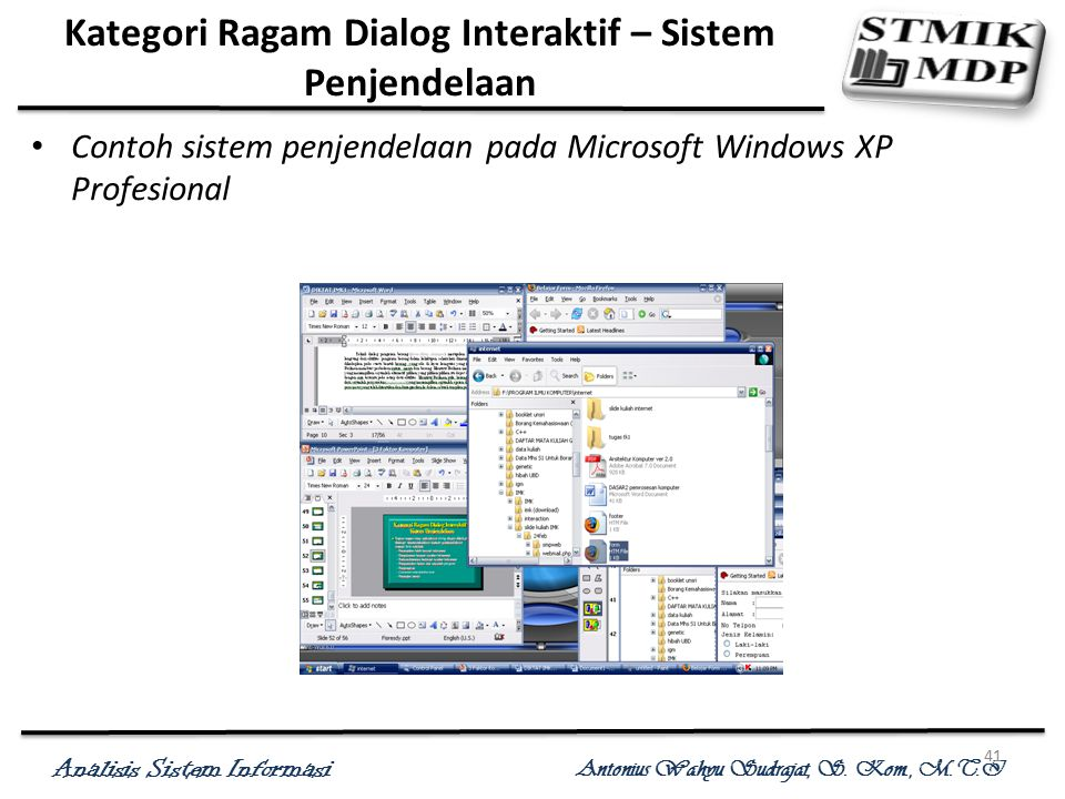 Kategori Ragam Dialog Interaktif – Sistem Penjendelaan