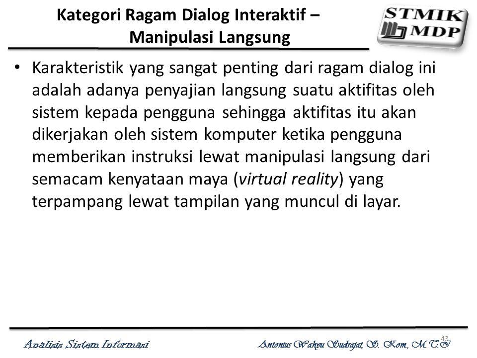 Kategori Ragam Dialog Interaktif – Manipulasi Langsung