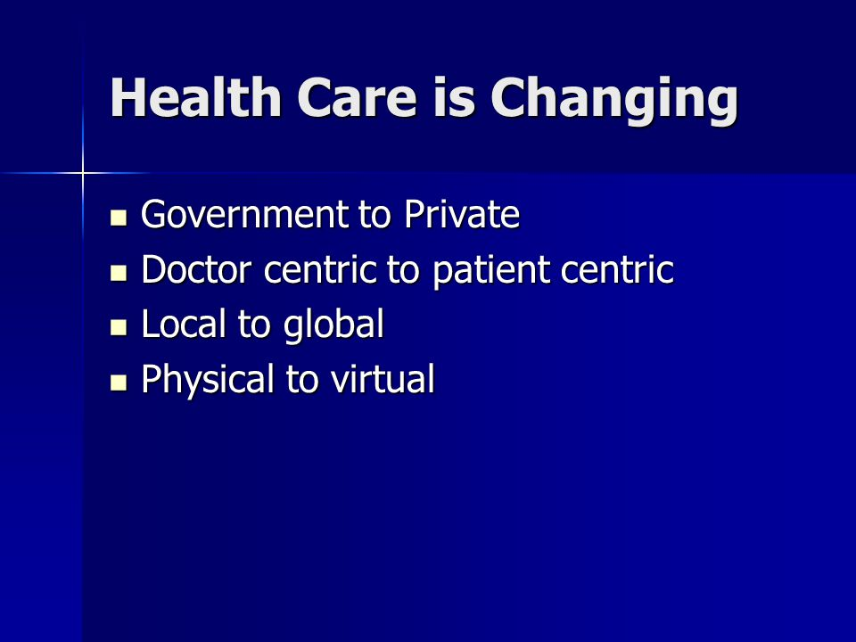 Health Care is Changing