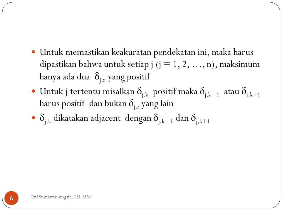 j,k dikatakan adjacent dengan j,k - 1 dan j,k+1