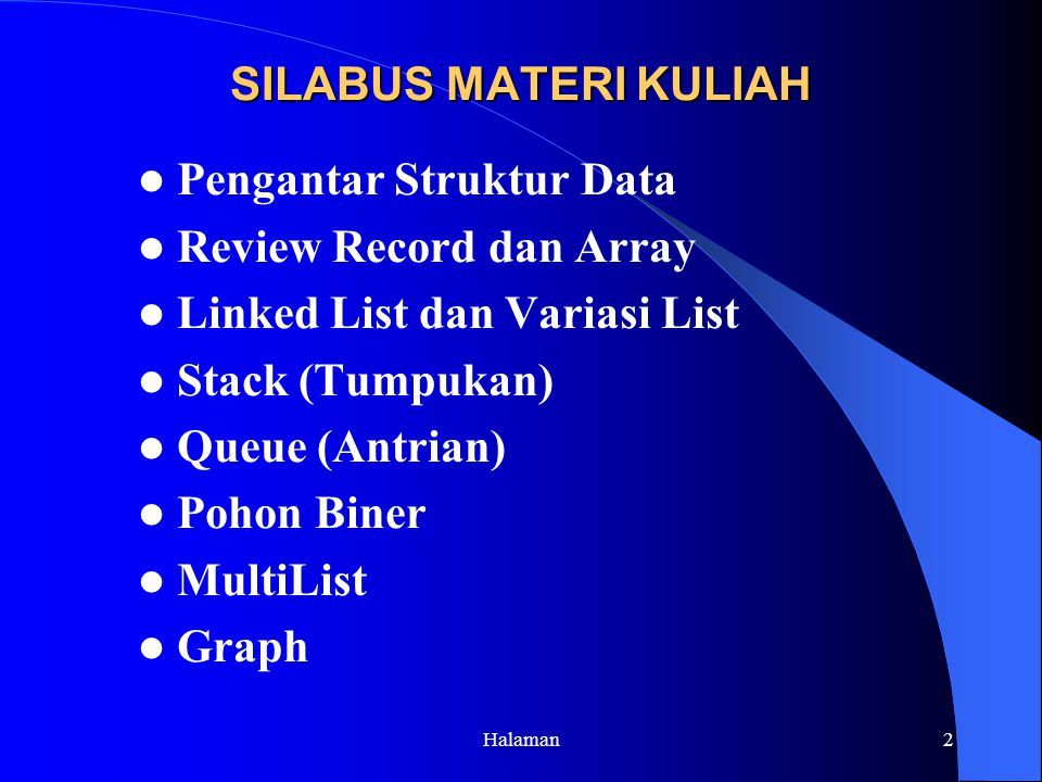 Pengantar Struktur Data Review Record dan Array