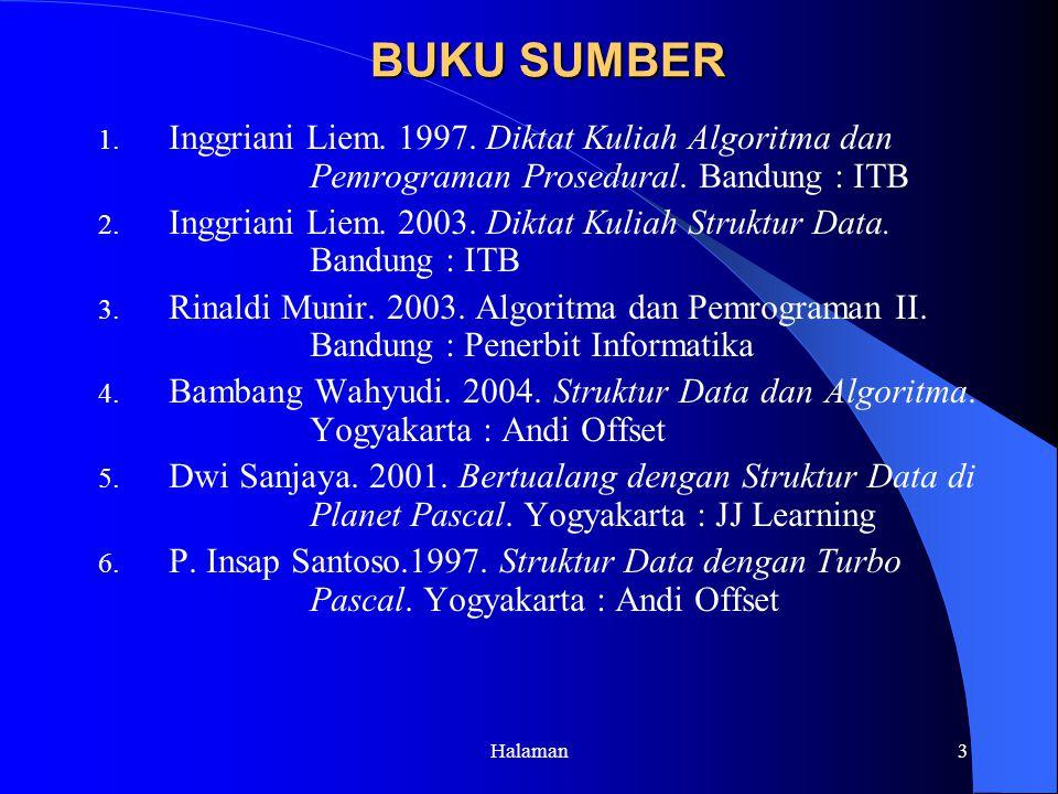 Inggriani Liem. 2003. Diktat Kuliah Struktur Data. Bandung : ITB