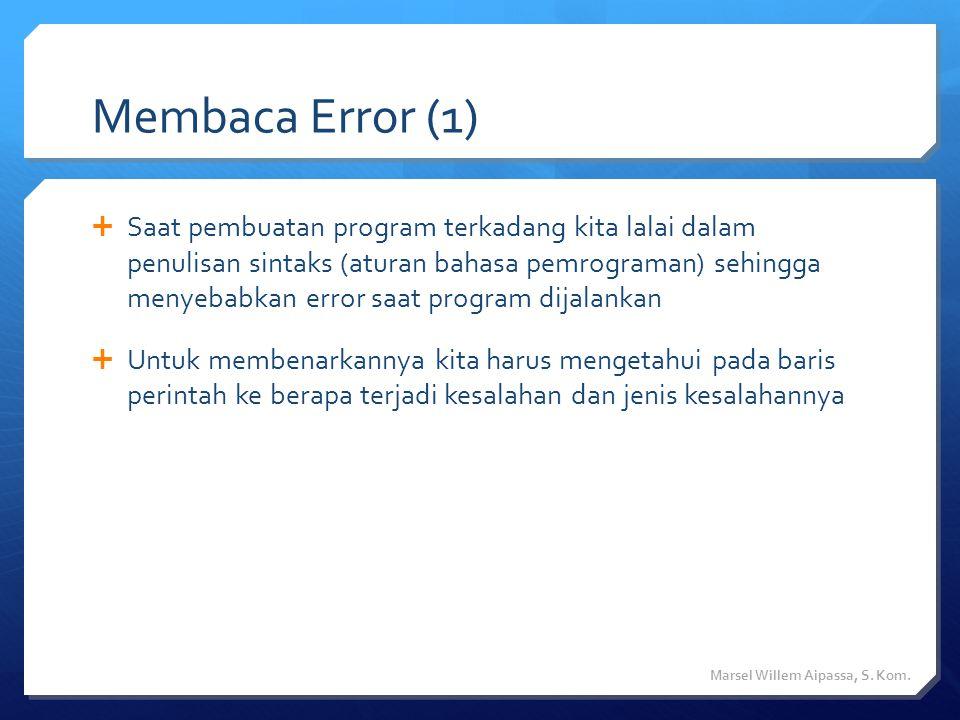 Membaca Error (1)