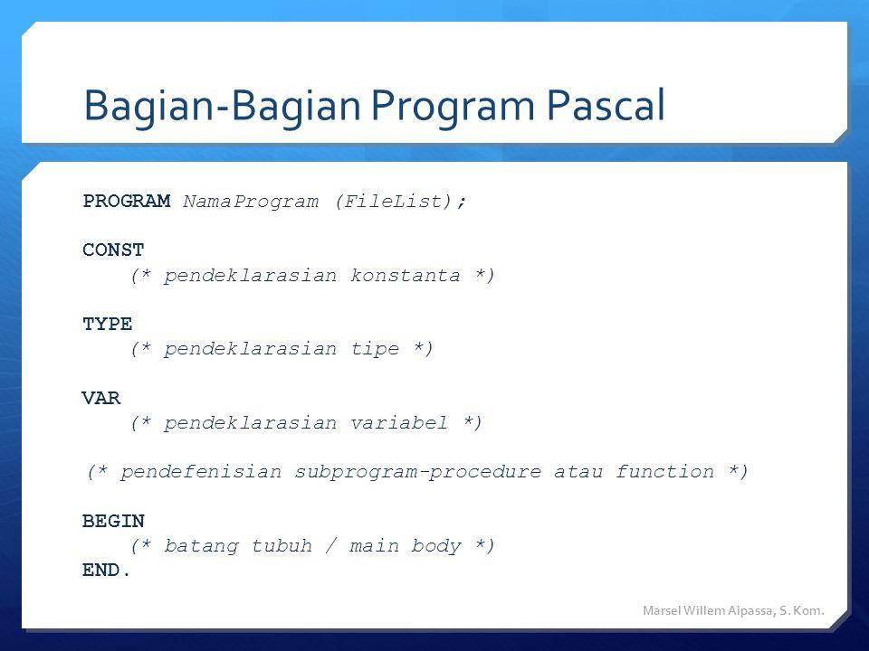 Bagian-Bagian Program Pascal