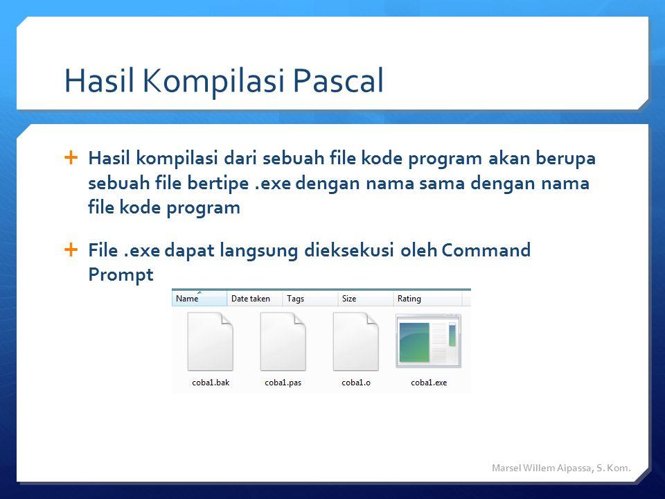 Hasil Kompilasi Pascal