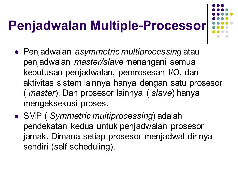Penjadwalan Multiple-Processor