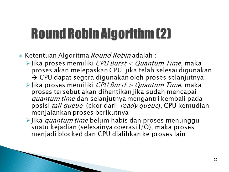 Round Robin Algorithm (2)