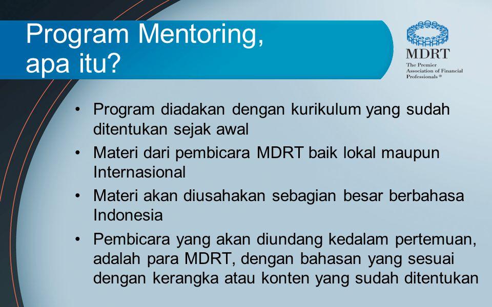 Program Mentoring, apa itu