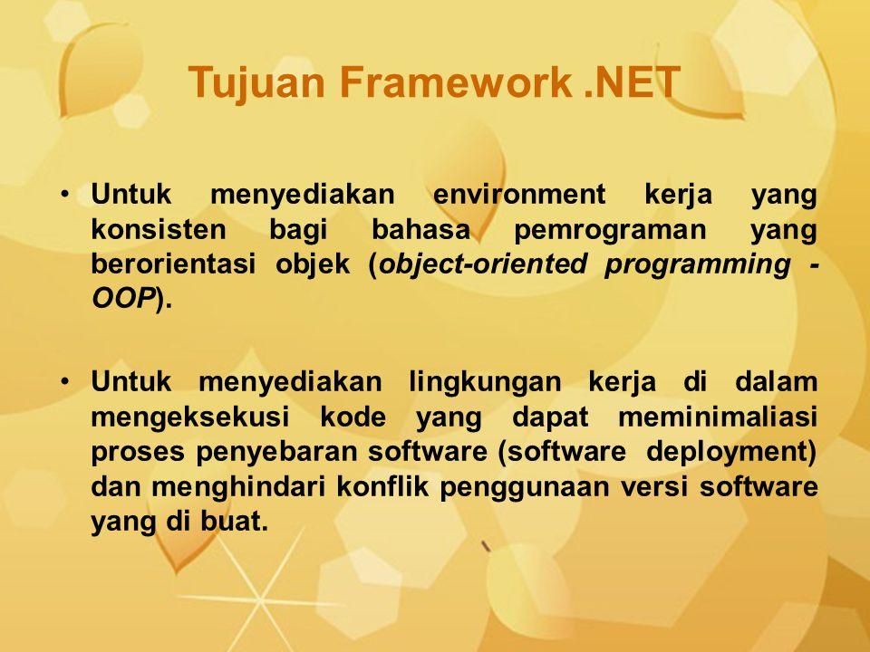 Tujuan Framework .NET