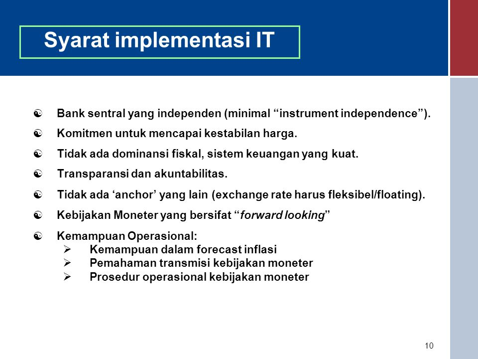 Syarat implementasi IT