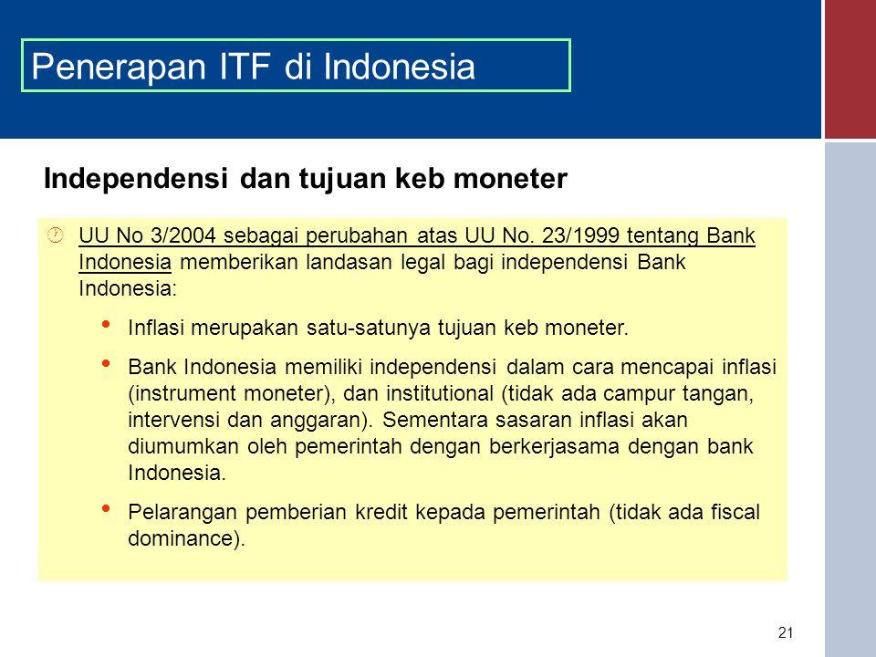 Penerapan ITF di Indonesia