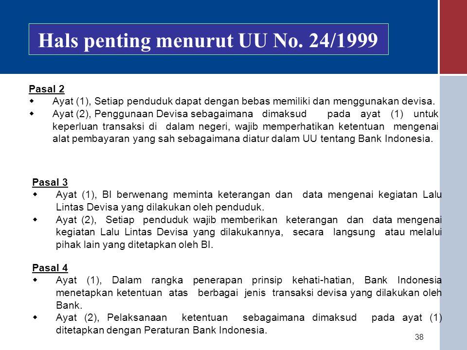 Hals penting menurut UU No. 24/1999