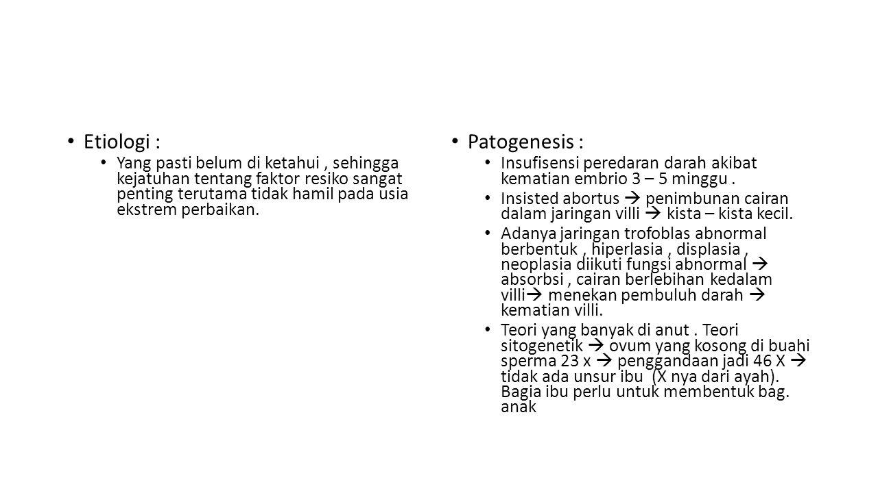 Etiologi : Patogenesis :