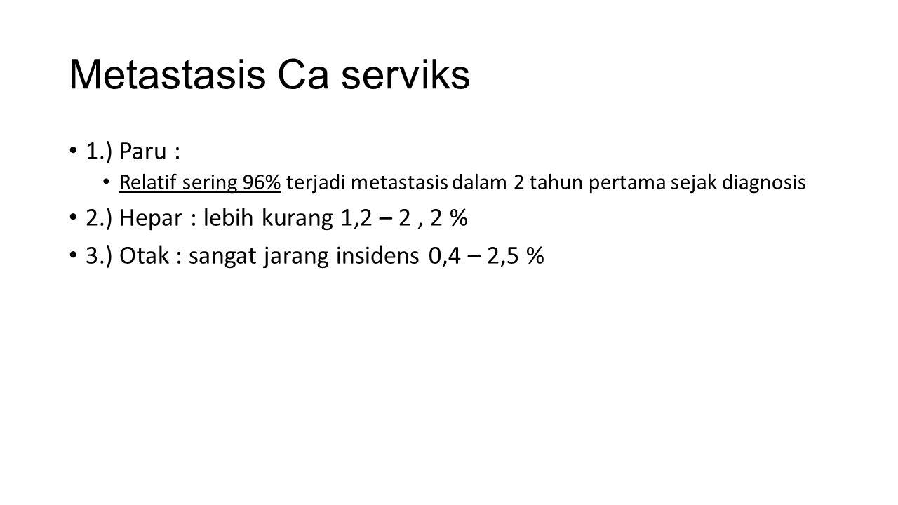 Metastasis Ca serviks 1.) Paru :