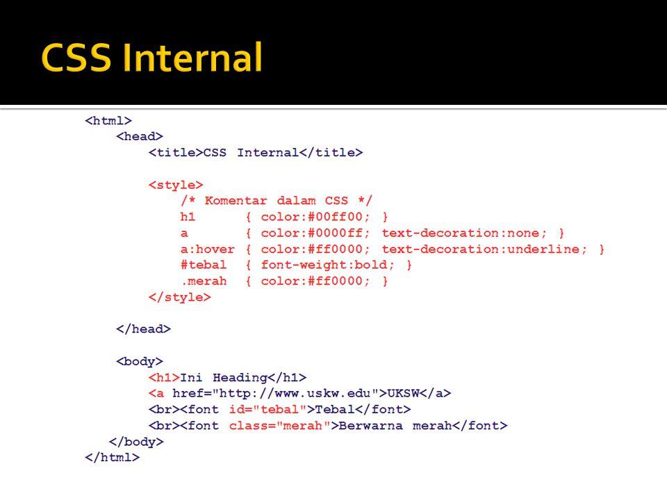 CSS Internal