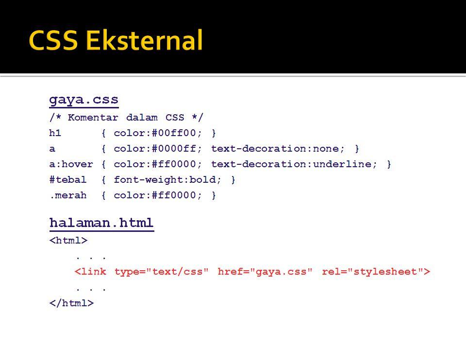 CSS Eksternal