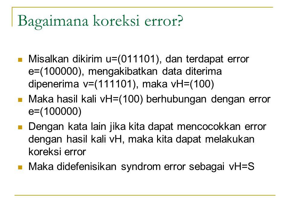 Bagaimana koreksi error