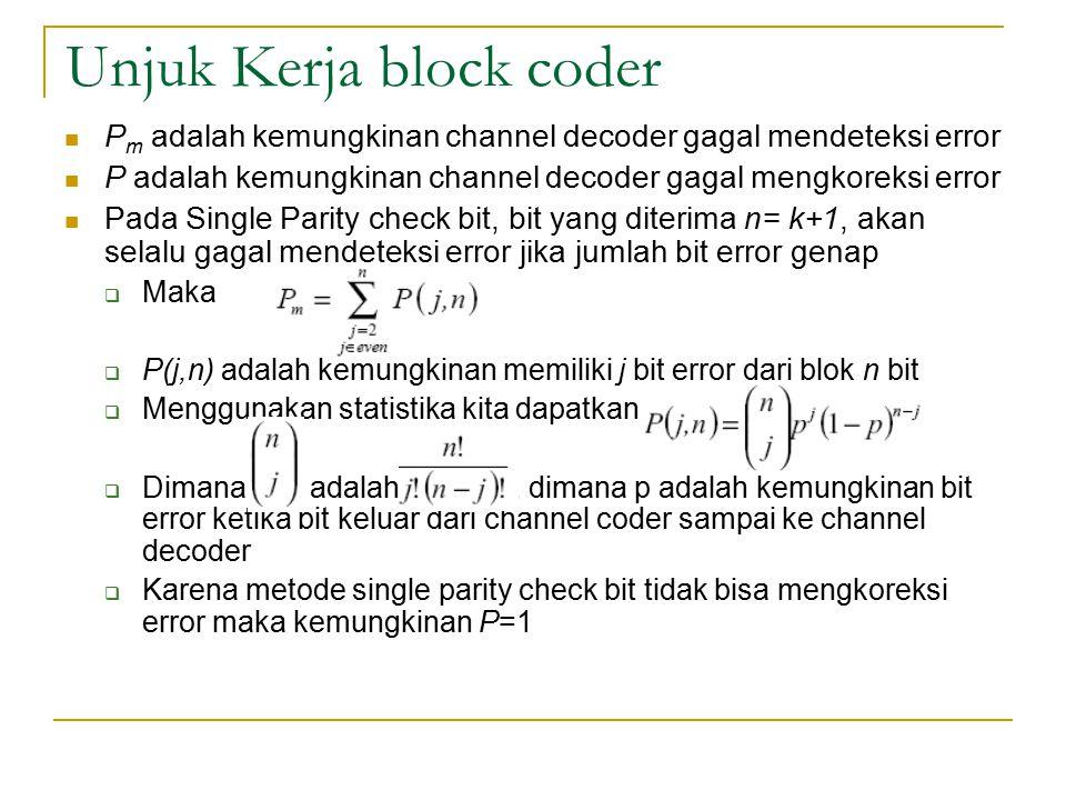 Unjuk Kerja block coder
