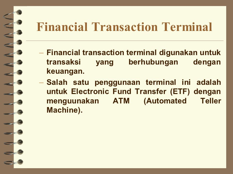 Financial Transaction Terminal