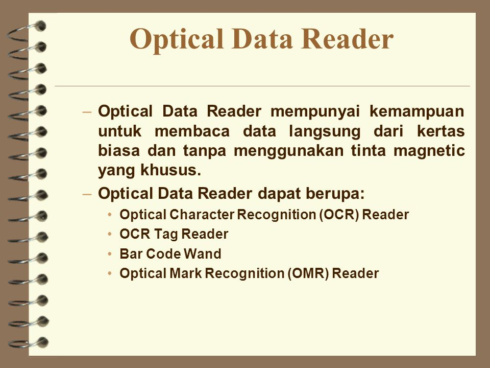 Optical Data Reader