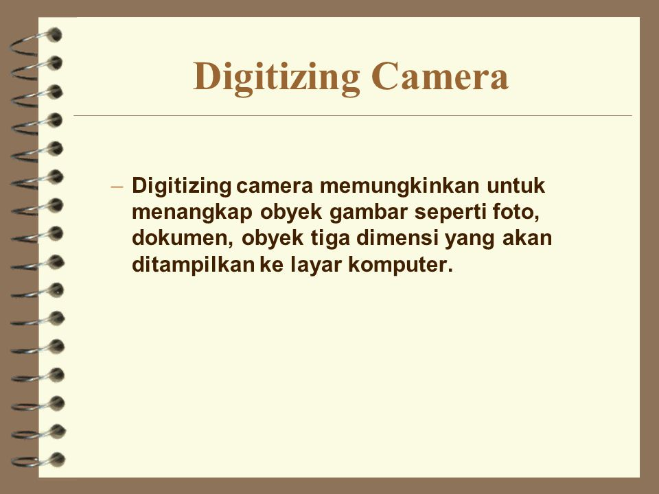 Digitizing Camera