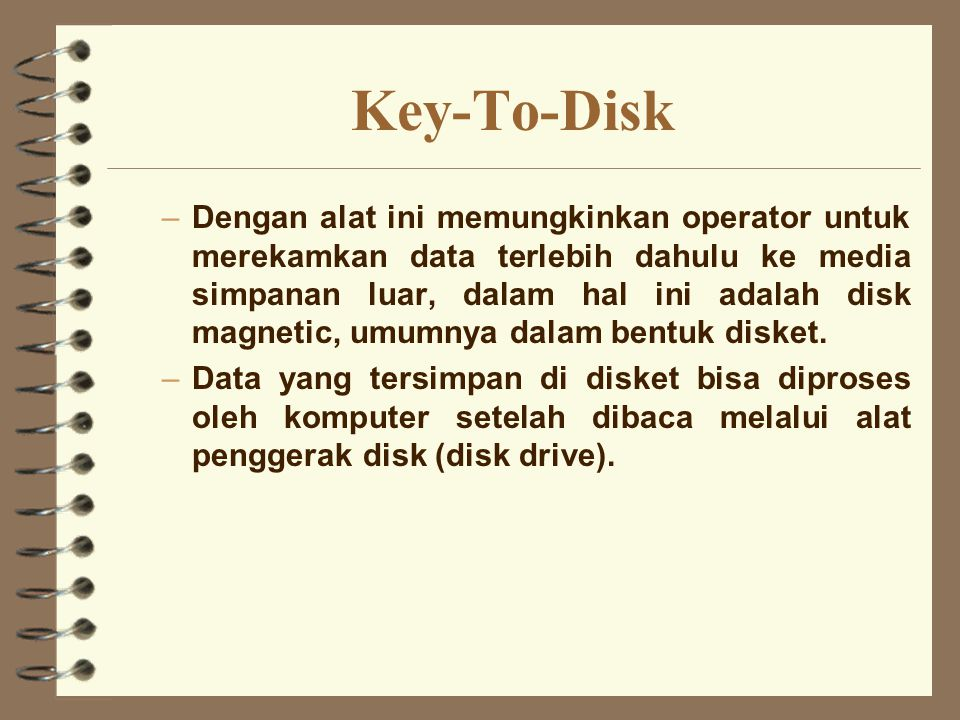 Key-To-Disk