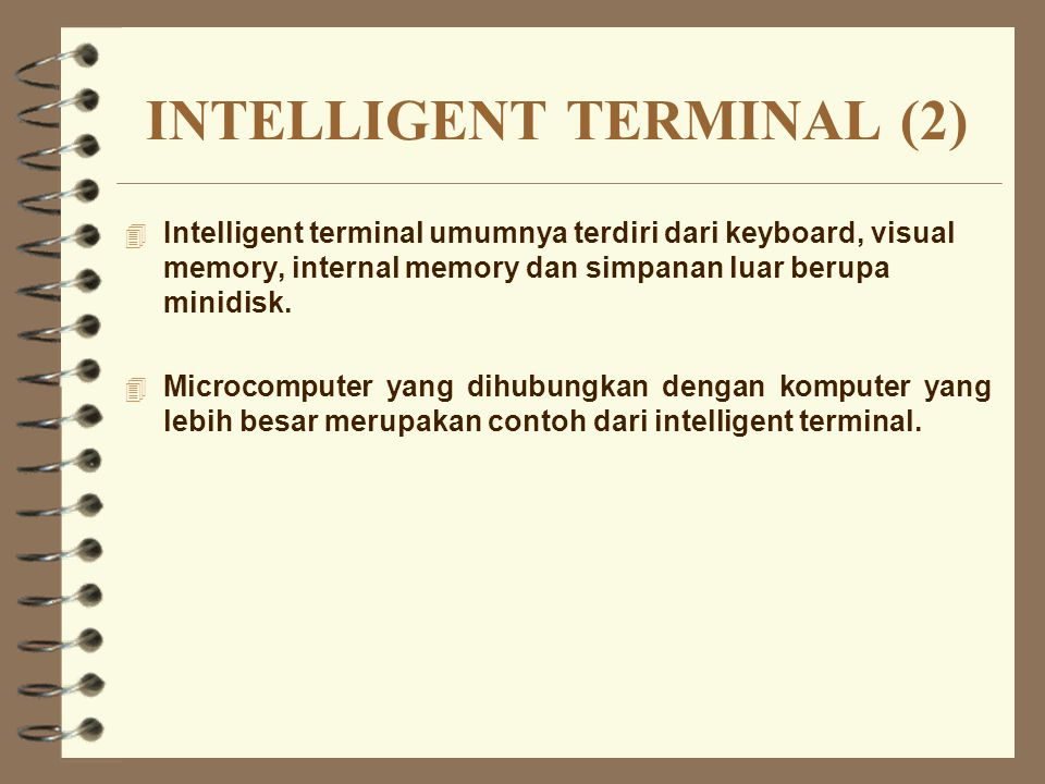 INTELLIGENT TERMINAL (2)