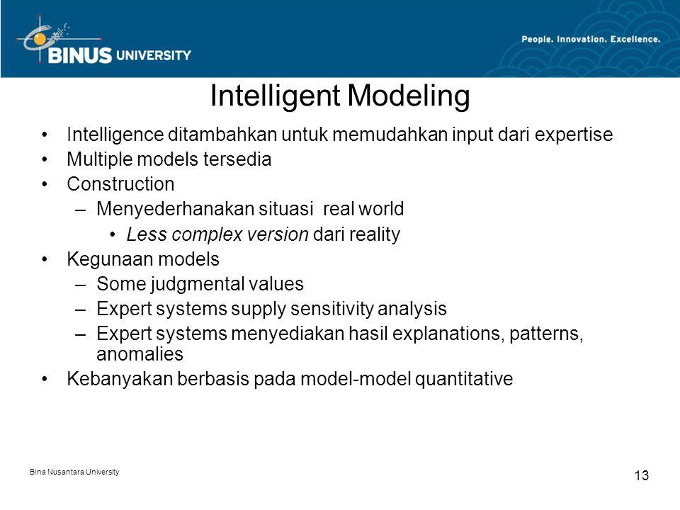 Intelligent Modeling Intelligence ditambahkan untuk memudahkan input dari expertise. Multiple models tersedia.
