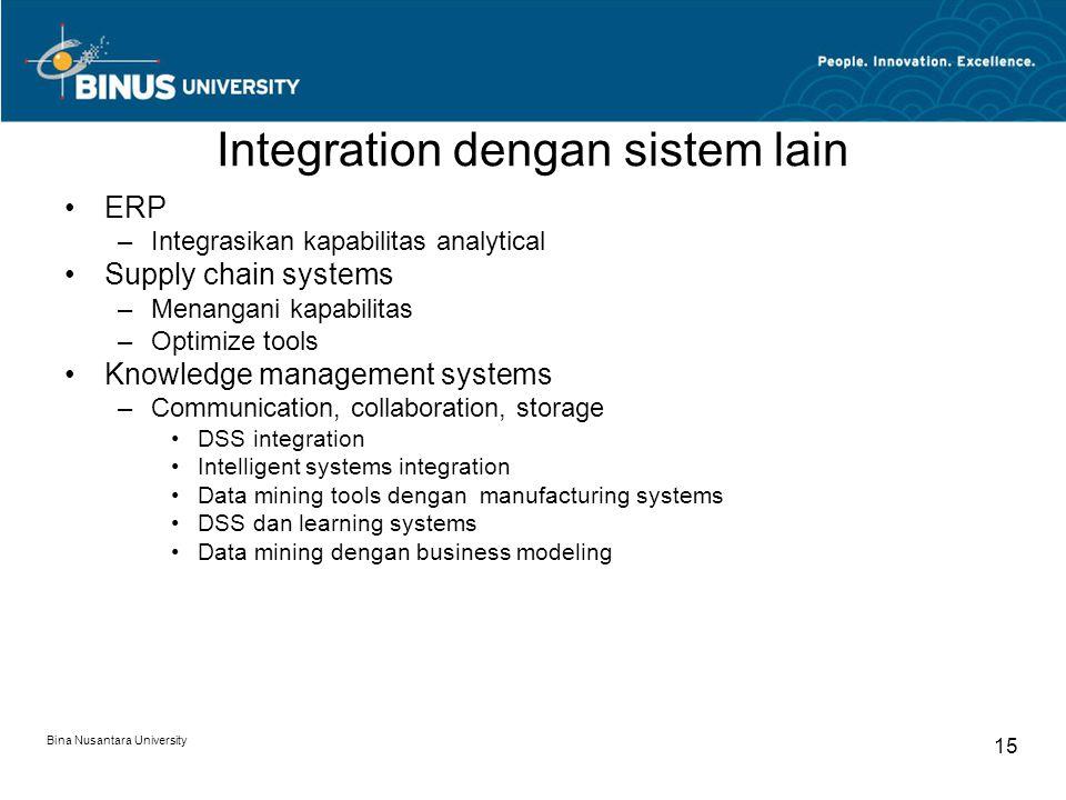 Integration dengan sistem lain