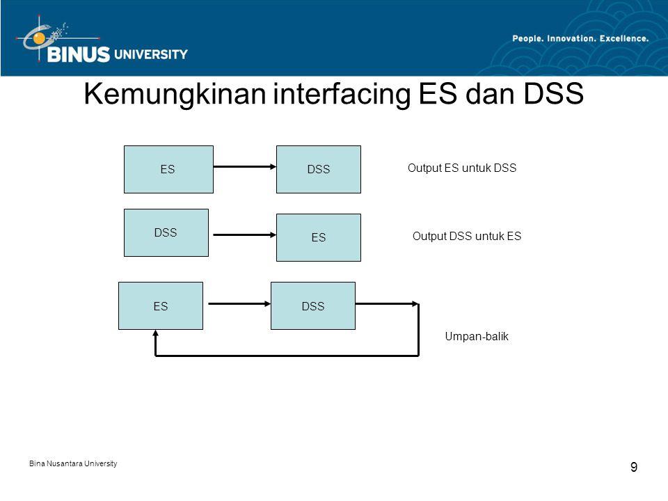 Kemungkinan interfacing ES dan DSS