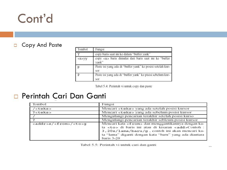 Cont'd Copy And Paste Perintah Cari Dan Ganti