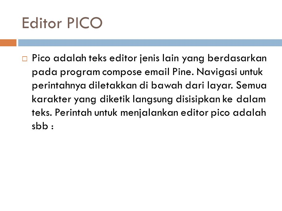 Editor PICO