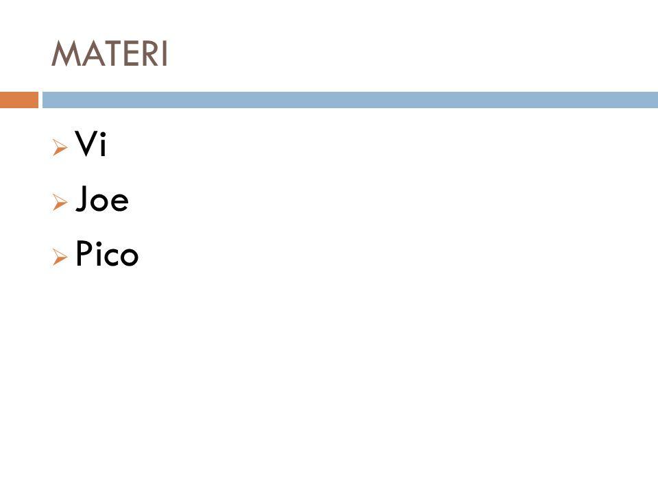 MATERI Vi Joe Pico