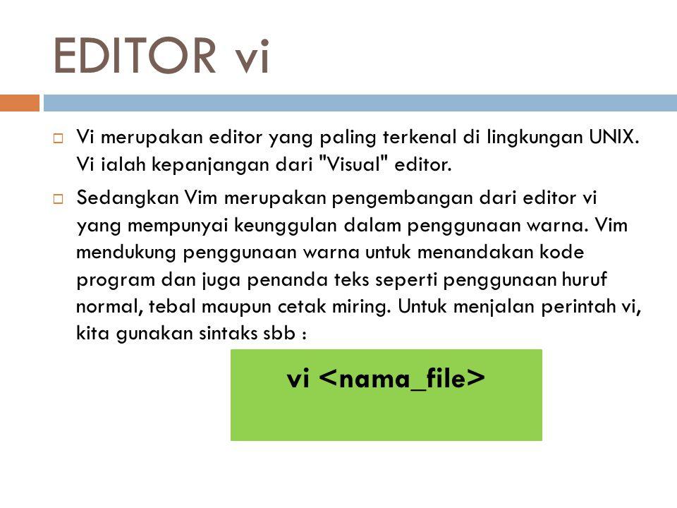 EDITOR vi vi <nama_file>