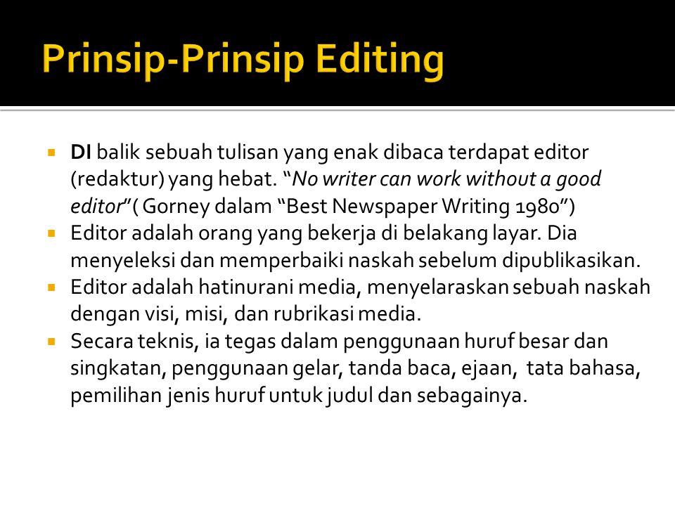Prinsip-Prinsip Editing