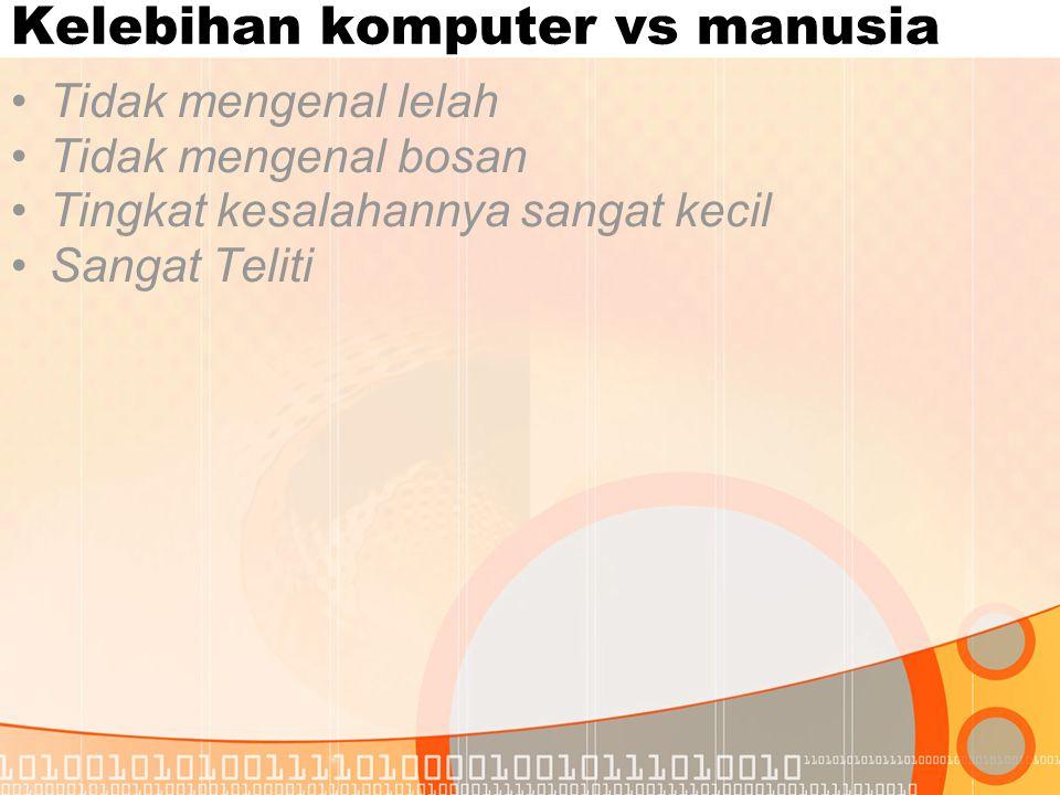 Kelebihan komputer vs manusia