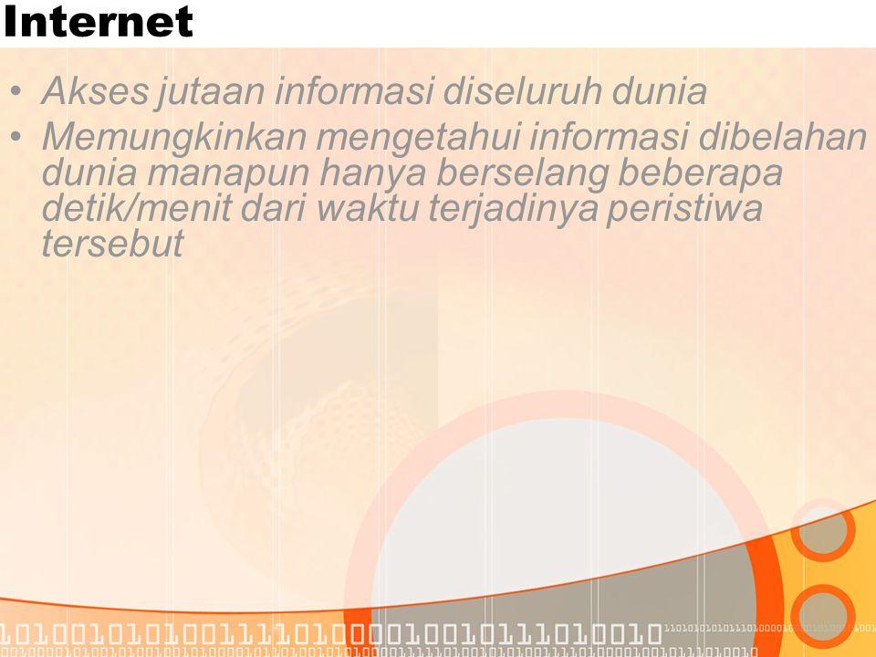 Internet Akses jutaan informasi diseluruh dunia