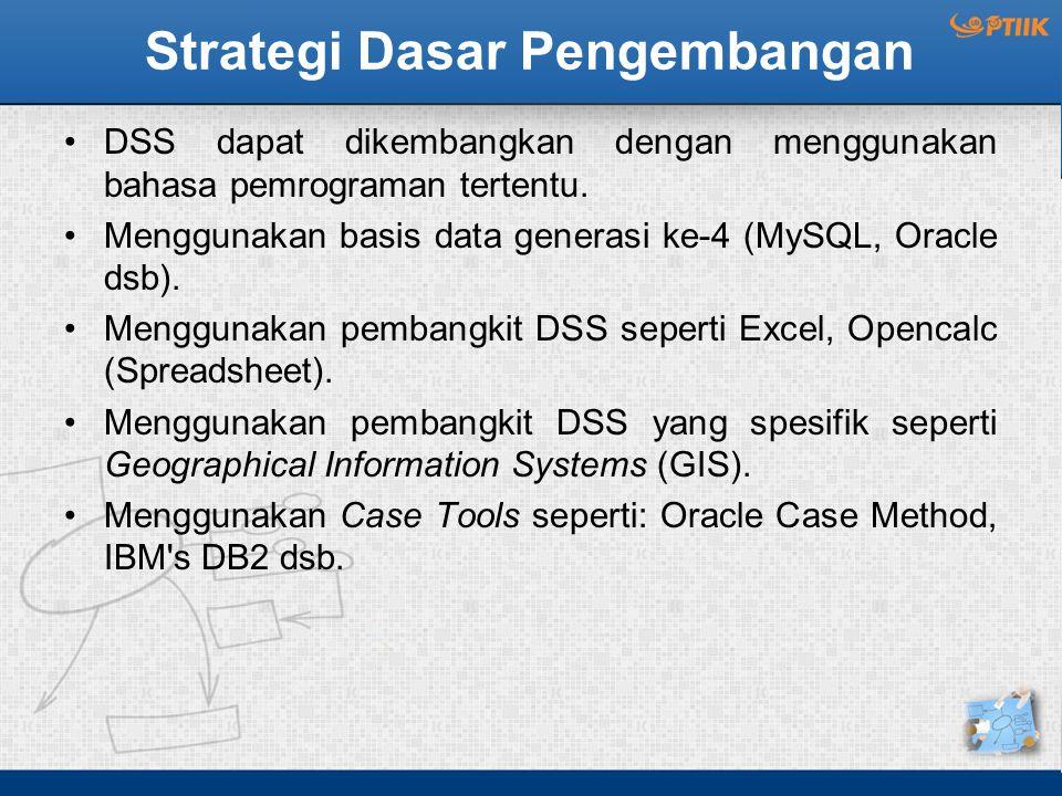 Strategi Dasar Pengembangan