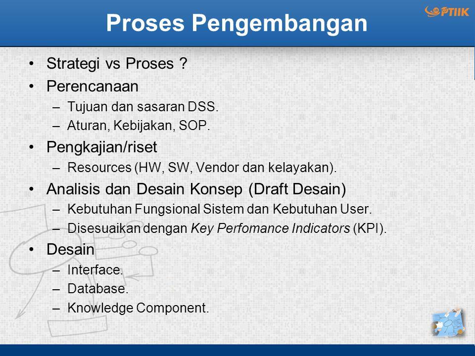 Proses Pengembangan Strategi vs Proses Perencanaan Pengkajian/riset