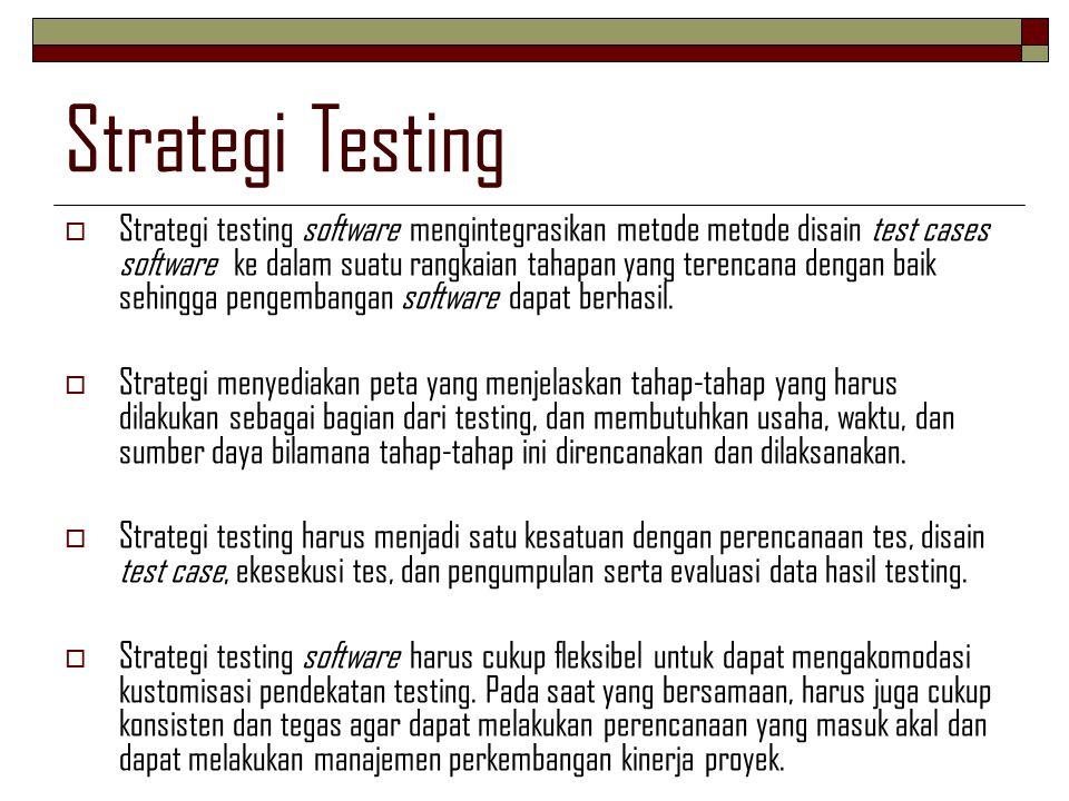 Strategi Testing