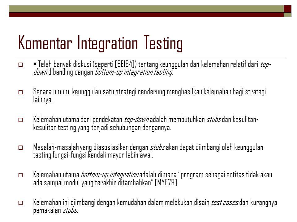 Komentar Integration Testing