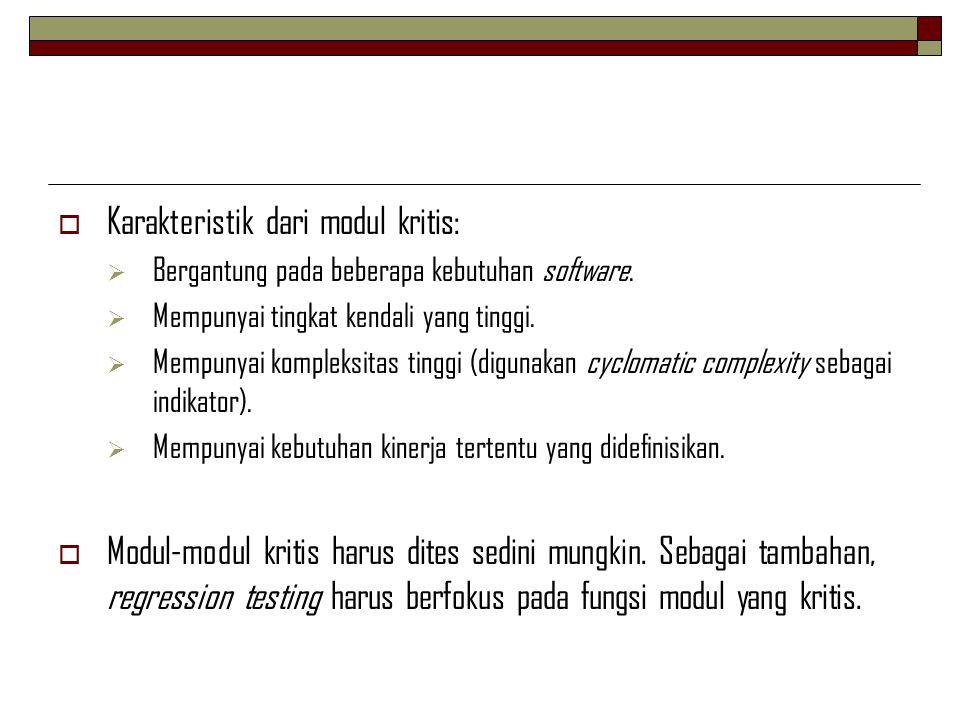 Karakteristik dari modul kritis: