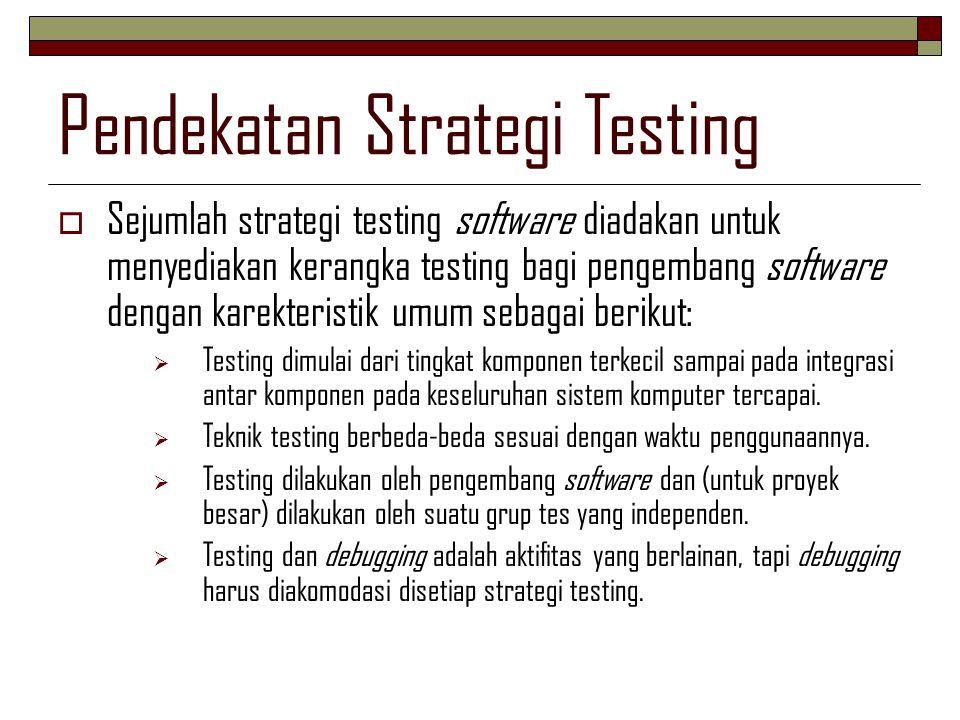Pendekatan Strategi Testing